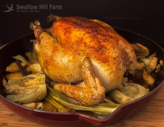 Baked Pasture Raised Meat Chicken